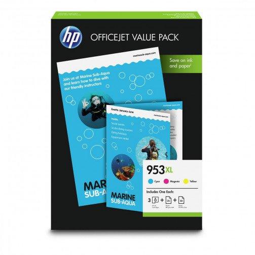 HP 953XLOffice ValuePK C/M/Y PK3 1CC21AE
