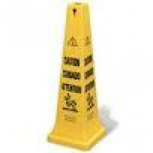 Safety Multilingual  ' Caution '  Cone 91cm