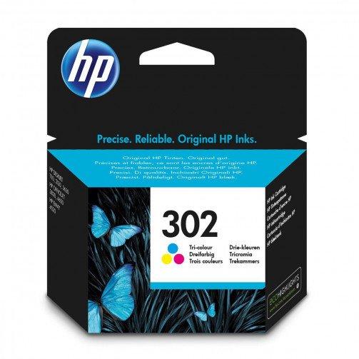HP No 302 Ink Cart Tri-Colour F6U65AE