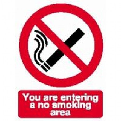 "No Smoking Sign Self Adhesive ""No Smoking area"""