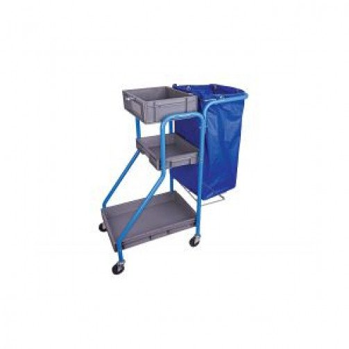 Port A Cart Cleaners Trolley Blue
