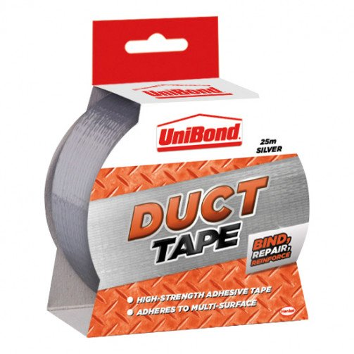 Unibond Duct Tape 50mmx25M Silver1418606