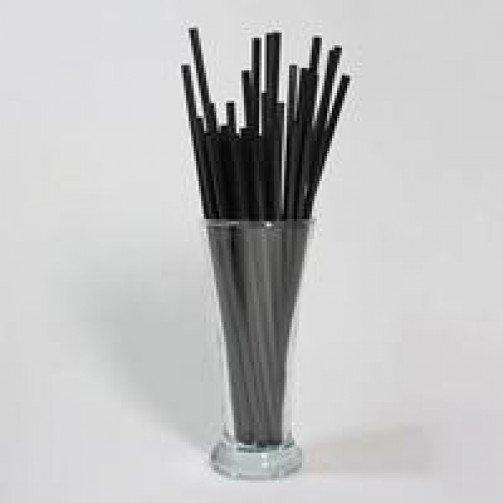 Black flexi straws x 250 -