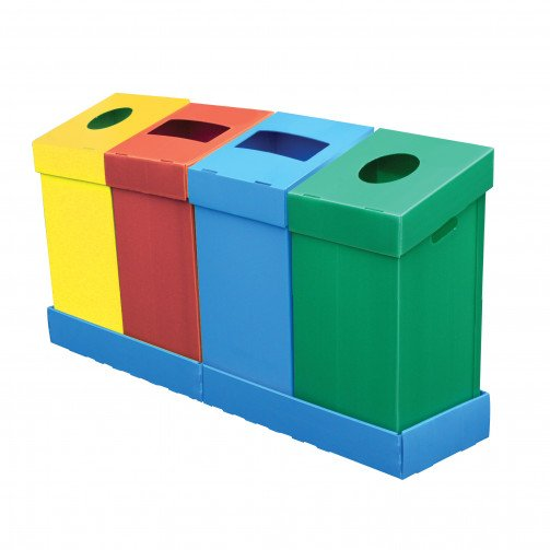 Recycling Bins Polypropylene Base x 2
