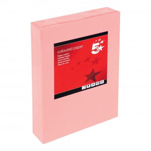 5 Star Tint A4 80g Med Salmon Pk500