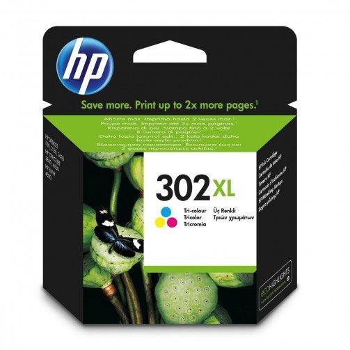HP 302XL Ink Cart C/M/Y F6U67AE
