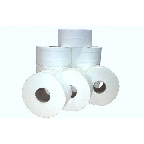 """Mini Jumbo Toilet Rolls 2 1/4"""" (60mm) Core 150M Per Roll x 12 PD902"""