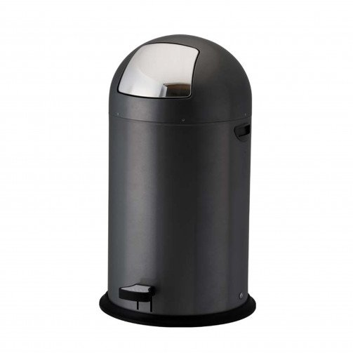 Pedal Operated Push Bin 40 Litre Black Ped40