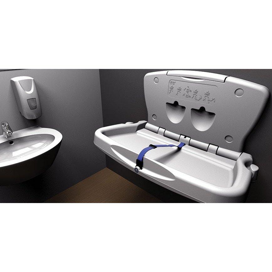 Baby Changing Unit Horizontal White Janitorial Direct Ltd