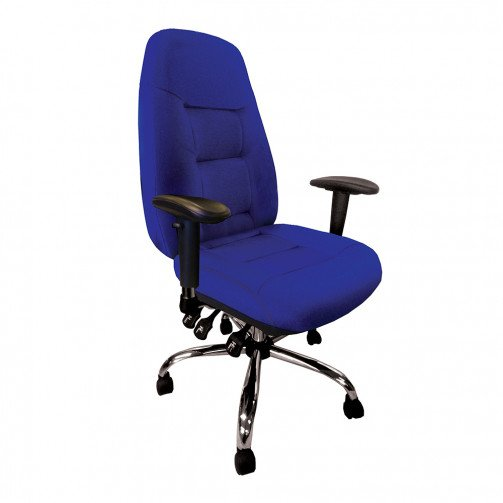 Mississippi Blue - 24 Hour Operator Chair Fabric Blue