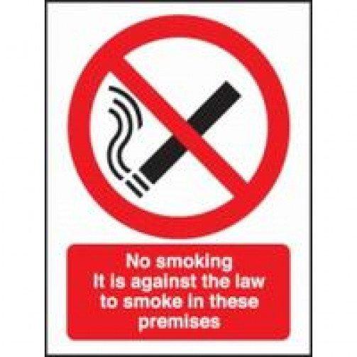 "No Smoking Sign Self Adhesive ""No Smoking premises"