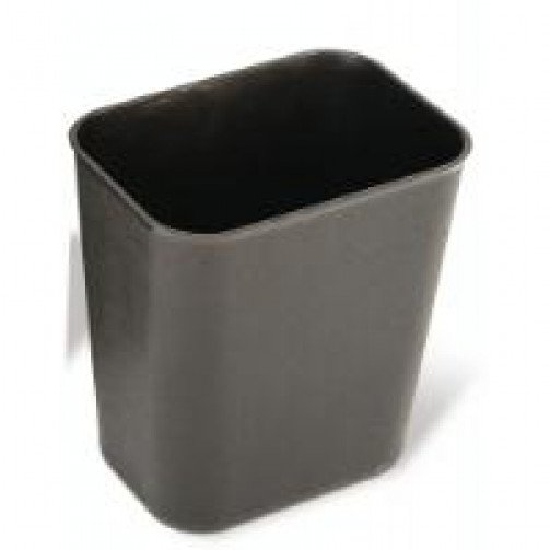 Rectangular Waste Basket 6.6 Litre Black