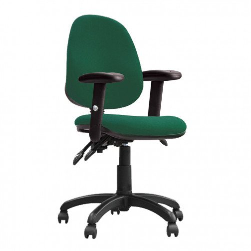 Nile 300 ADT Green - High Back Operator Chair With Height Adjustable Arms  Green