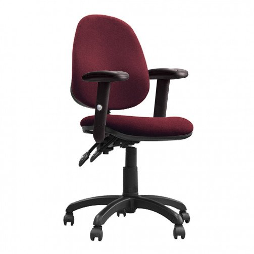 Nile 200 ADT Red - High Back Operator Chair With Height Adjustable Arms  Red