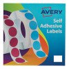 Avery Labels on Roll 25x19mmWht 24-421