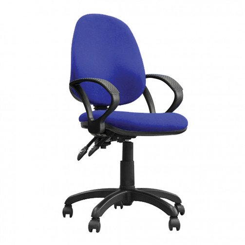 Nile 200 A Blue - High Back Operator Chair With Arms  Blue