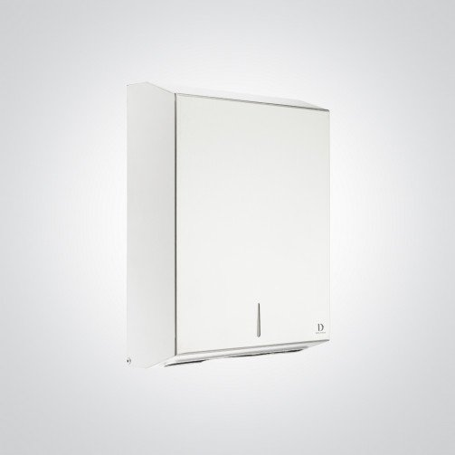 White Steel Paper Hand Towel Dispenser