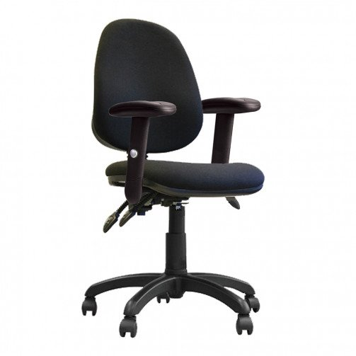 Nile 300 ADT Black - High Back Operator Chair With Height Adjustable Arms  Black