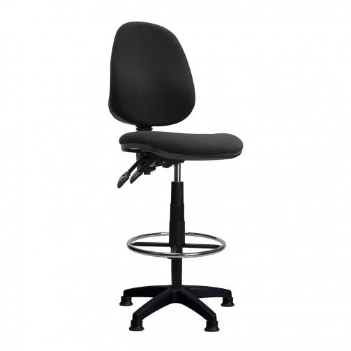 Nile-D Black - High Back Draughtsman Chair  Black