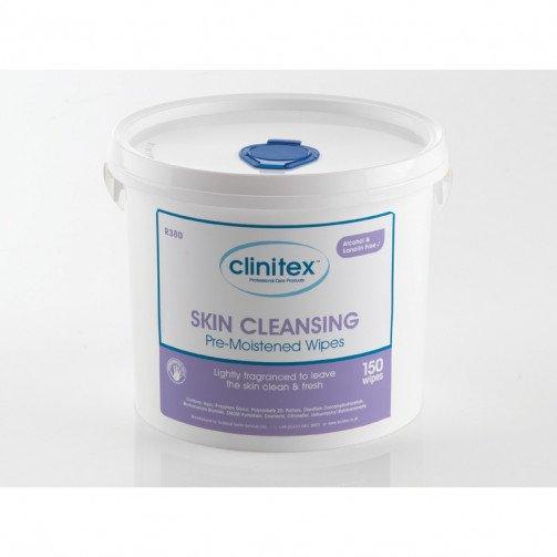 Clinitex Skin Cleansing Wipes Bucket 4 x 150
