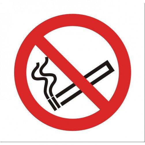No Smoking Vehicle Sign Clear SB012SAV