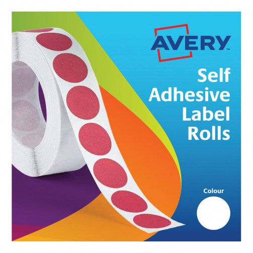 Avery Labels on Roll Dia19mm Whte 24-404