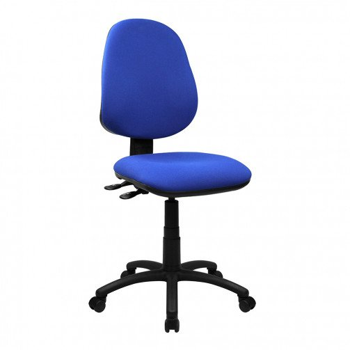 Nile 300 Blue - High Back Synchronised Operator Chair  Blue