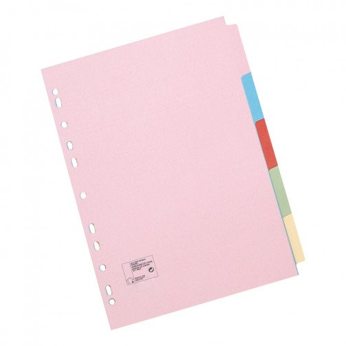 5 Star Office File Dividers A5 5 part