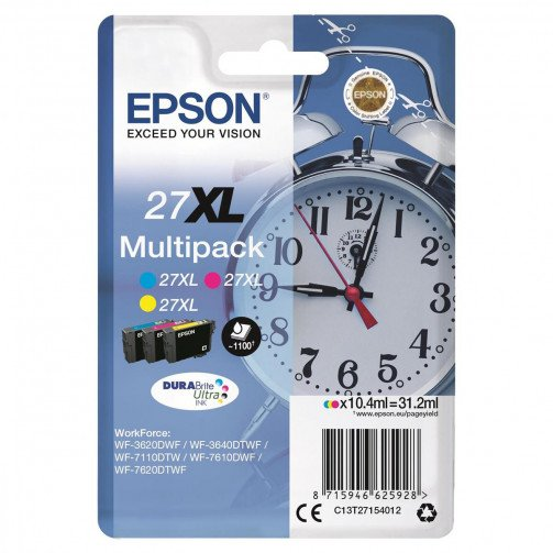 Epson 27XL IJ Cart HY CMY C13T27154012