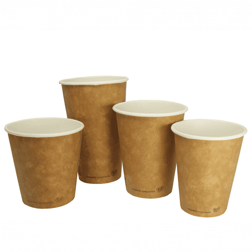 Vegware Eco Double Wall Hot Cups x 500