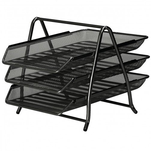 5 Star Office Mesh 3Tier Letter Black