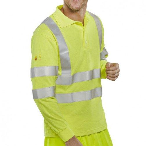 Hi-Vis Fire Retardant Polo Shirt
