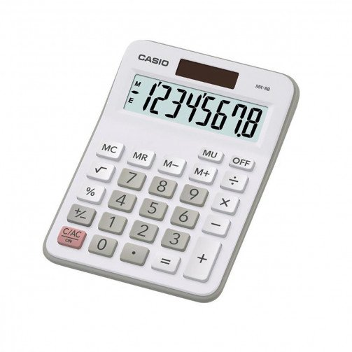 Casio MX-8-WE Desktop Calculator White