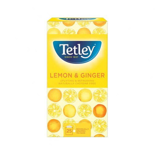 Tetley Lemon/Ginger Env 25x1.5g