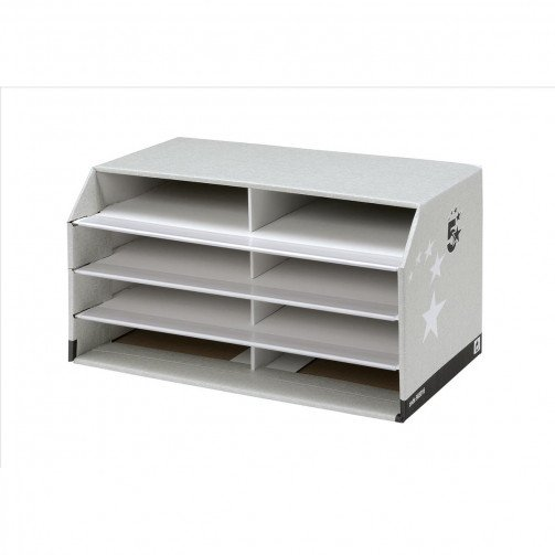 5 Star FSC Premier Document Sorter Grey