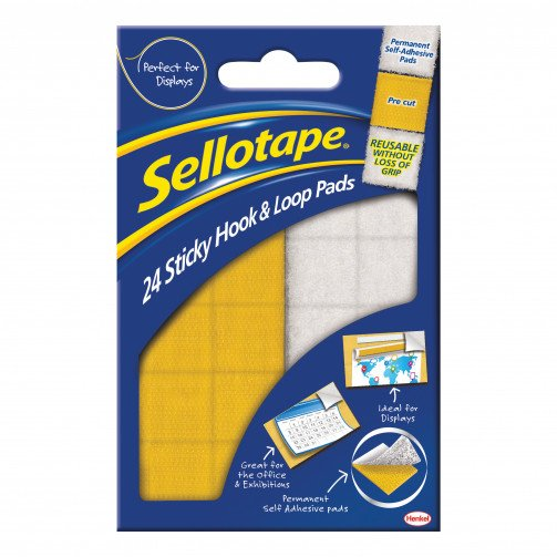 Sellotape Hk&Loop Pds 20x20 Bx24 1445176