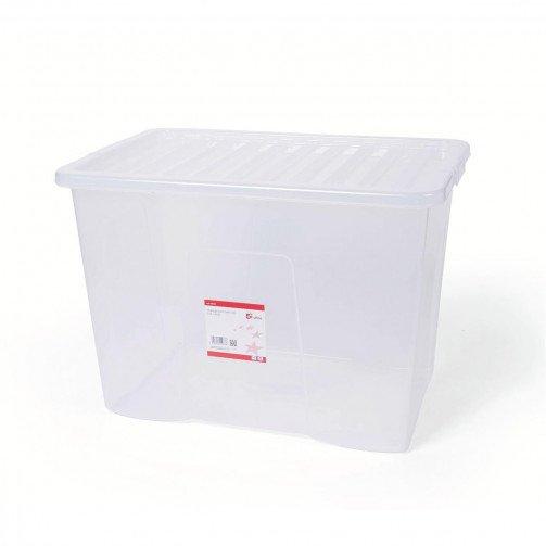 5 Star Storage Box 60L Clear