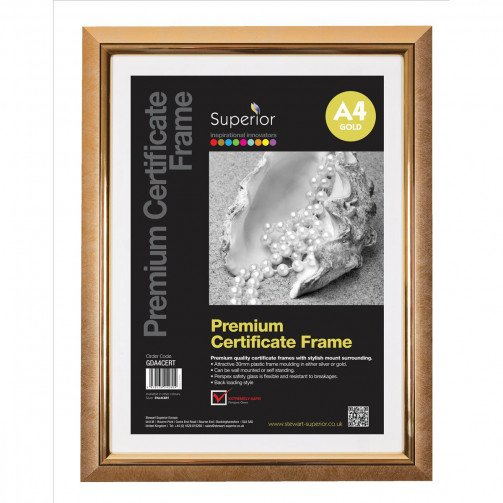 5 Star Fac DeLuxe CertFrame A4 Gold
