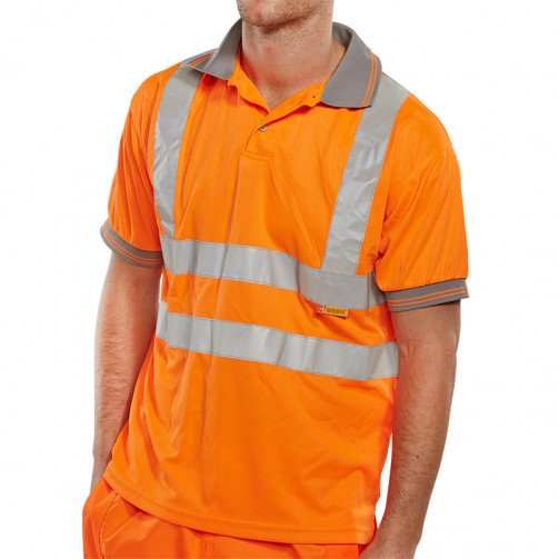 Hi-Visibility Polo Shirt with Short  Sleeves