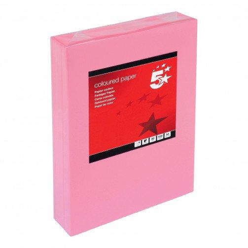 5 Star Tint A4 80gsm Med Pink Pk500