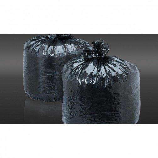 "Black Flat Packed Compactor Sacks - 20x35x45"" CHSA"