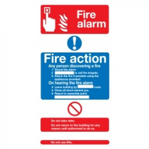 Fire Alarm Fire Action Safety Sign