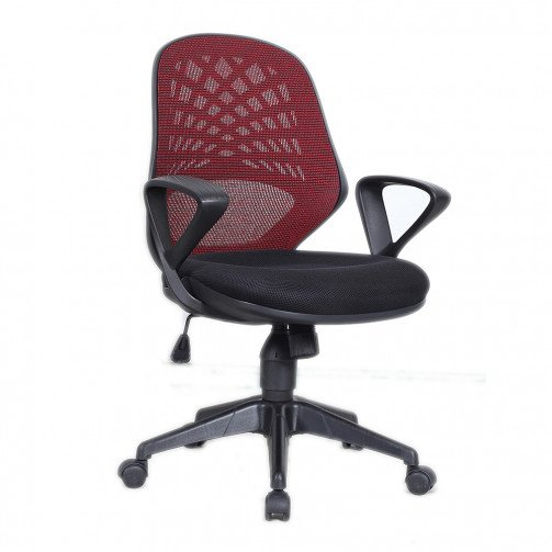 Lena Red - Mesh Back Operator Chair Red