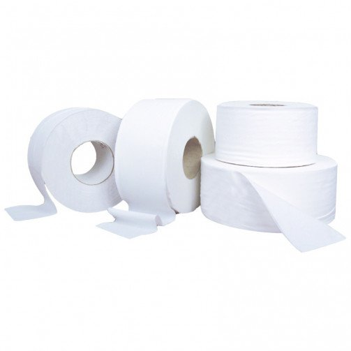 "Mini Jumbo Toilet Rolls Economy x 12 rolls 150m Per Roll 2 1/4"" (60mm) Core PD902REC"