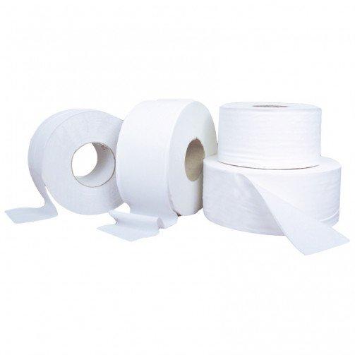 """Mini Jumbo Toilet Rolls Economy x 12 rolls 150m Per Roll 2 1/4"""" Core PD902REC"""