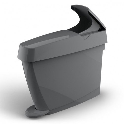 Sanitary Bin Grey Pedal Operated 15L