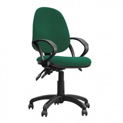 Nile 300 A Green - High Back Synchronised Operator Chair With Arms  Green