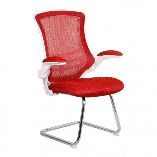 Yukon White/red - White/Red Cantilever Chrome Frame White/red