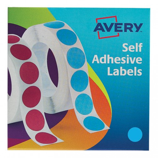 Avery Labels on Roll 19mm Blue 24-509