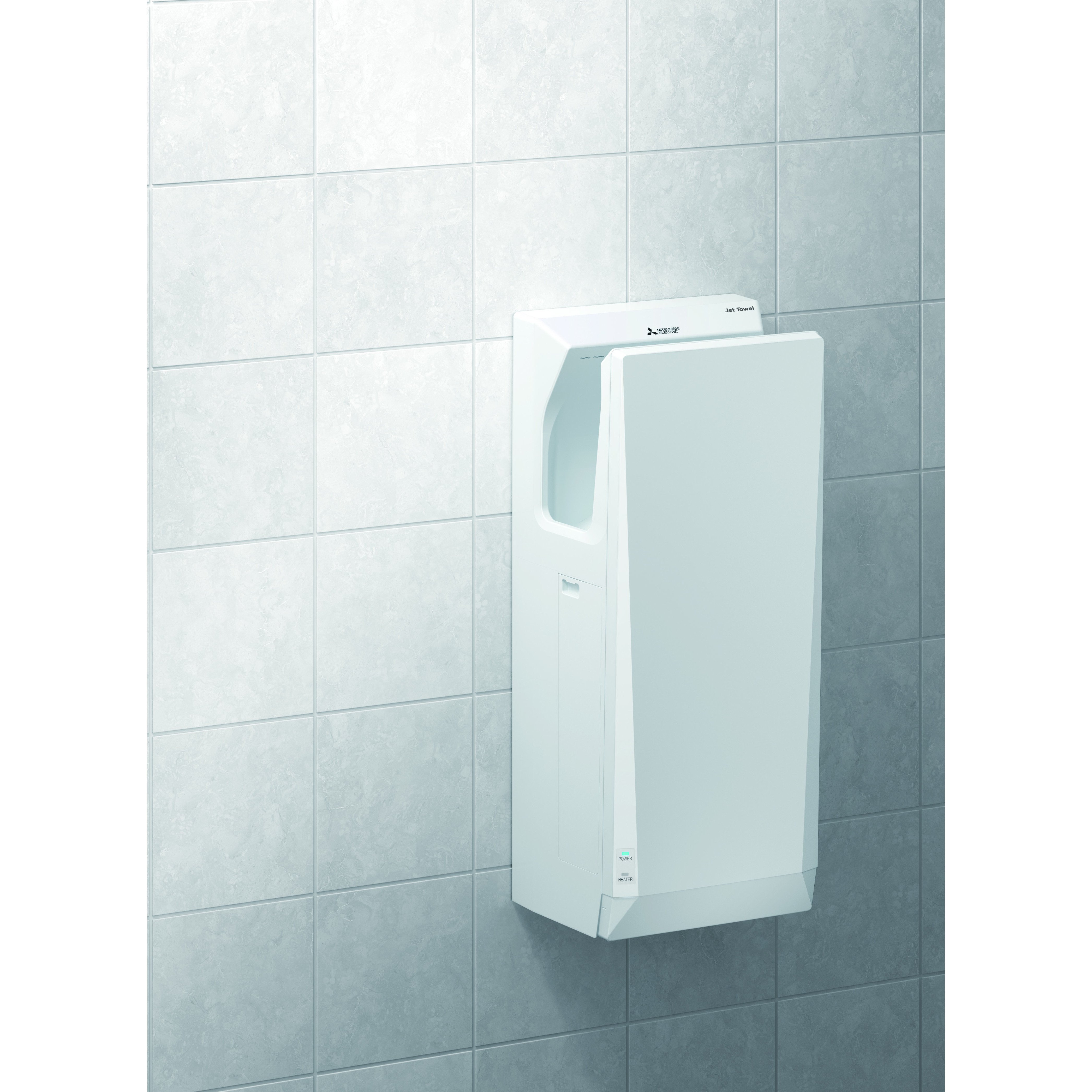 mitsubishi cube type electric dryer slim smart white hand silver midshires